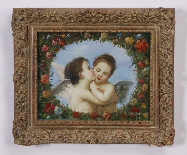 Guillaume Seignac signed O/c, 19th c.