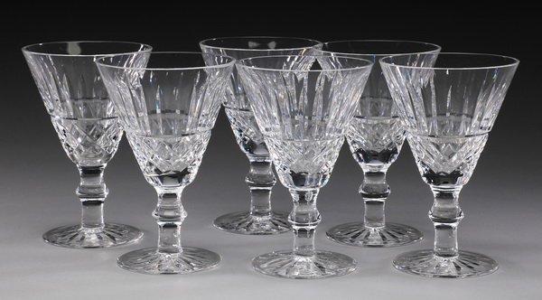 (6) Waterford crystal Tramore wine glasses