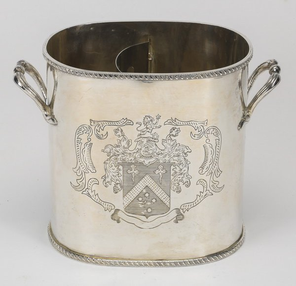 English style silver plate wine cooler
