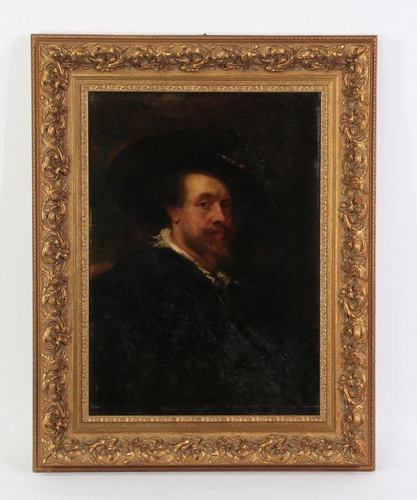 After Peter Paul Rubens, self portrait O/c
