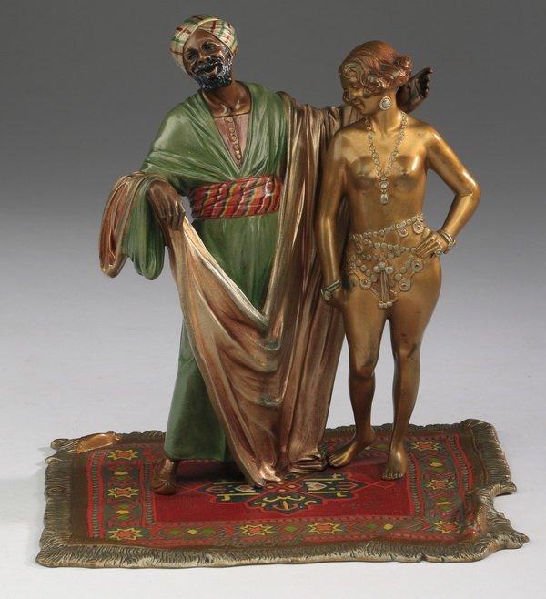 "19th c. Austrian cold-painted bronze, 8""h"