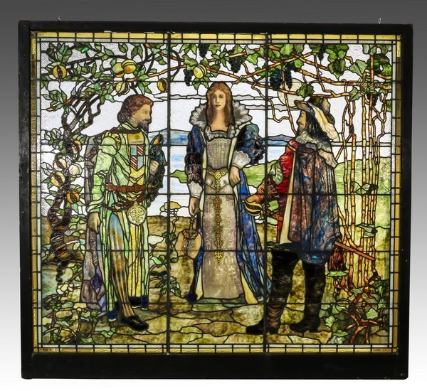 Stained glass window by Rudy Brothers, Penn.