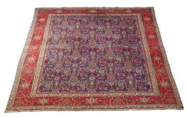 Hand knotted Persian Kashan wool rug, 8 x 10