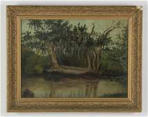 American School O/c 'Southern Swamp', 19th c