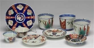 (9) Imari porcelain cups and saucers