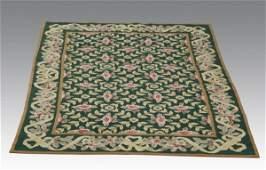 Portuguese style needlepoint rug 4 x 6
