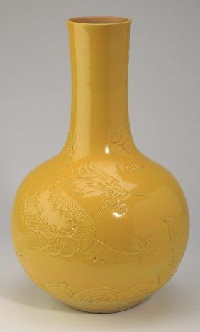 "Chinese Porcelain Bottle Neck Vase, 14""h"