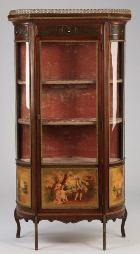 Early 20th C. Vernis Martin Style Vitrine