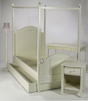 4-piece Child's White Bedroom Suite
