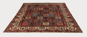 Hand-knotted Bakhtiari Wool Rug, 9 X 12