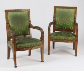 (2) Empire Style Armchairs