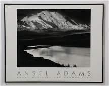 "(2) Ansel Adams framed photo prints, 30""w"