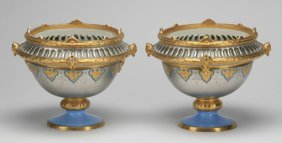 (2) French Porcelain Potpourris, 19th C.