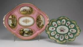 (2) Continental Porcelain Dressing Trays