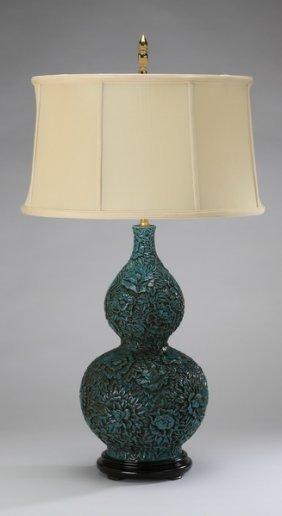 Comtemporary Ceramic Gourd Shaped Lamp