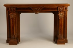 American Carved Mahogany Fireplace Surround