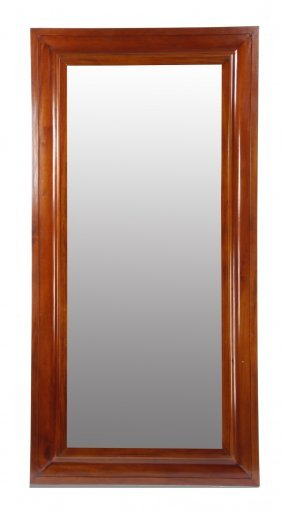 "Framed And Beveled Glass Mirror, 96""h"