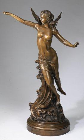 """Bronze Sculpture, Greek Goddess Iris, 37""""h"""