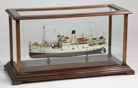 Model Of The Ferry 'earl Sigurd' W/ Case
