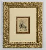 Salvador Dali etching of El Cid framed