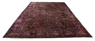 Palace size Persian Lavar Kerman rug 19 x 12