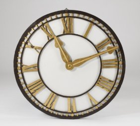 "19th C. English Tower Clock Face, 41""dia."