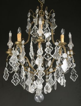 19th C. Continental Rock Crystal Chandelier