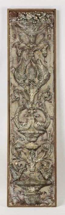Rococo Inspired Architectural Wall Panel, 86""