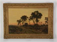 Daniel Sherrin signed, O/c landscape, 19th c.