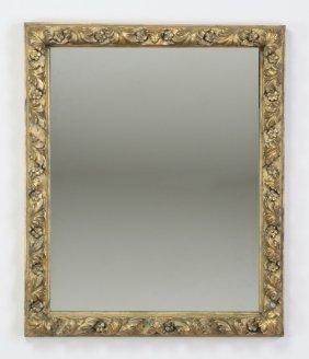 """19th C. Rococo Revival Giltwood Mirror, 34""""h"""