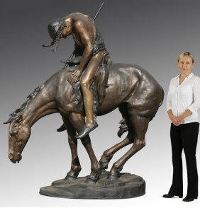 "Lifesize 'end Of Trail' Bronze, 86""h"