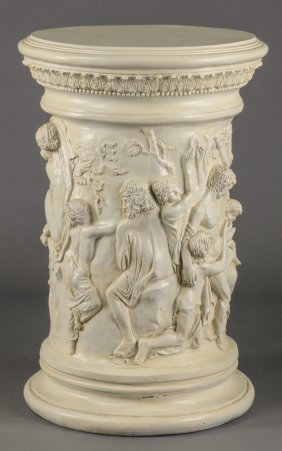 """Neoclassical Style Molded Pedestal, 43""""h"""