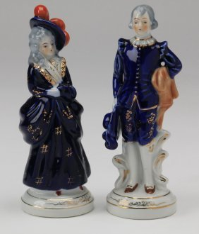 """(2) Made In Occupied Japan Figurines, 7.25""""h"""