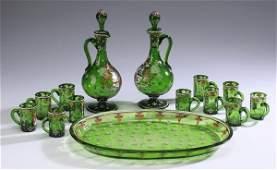 14-Piece cordial set, A.A. Egermann