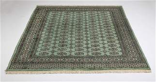 Handknotted Bokhara wool rug 9 x 6