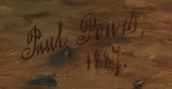 "Paul Powis (English) signed O/c, 19th c. 63""w - 4"