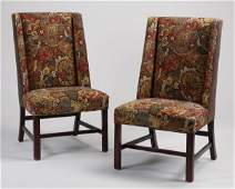 2 Contemporary wingback side chairs 43h