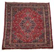 Hand knotted Persian Mashad wool rug 8 x 12