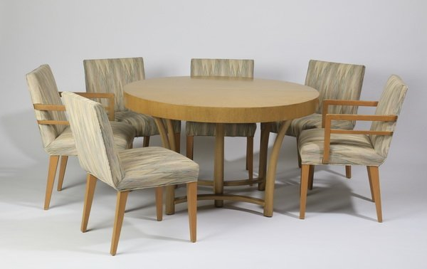 Robsjohn-Gibbings dining table and chairs