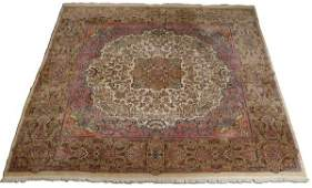 Hand knotted Persian Kerman rug 13 x 15