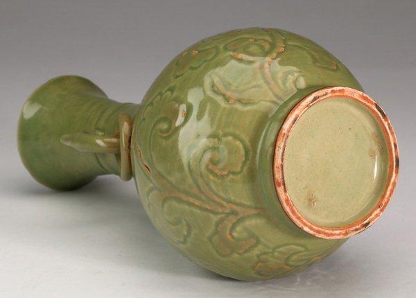 "Chinese celadon bottle vase, 10""h - 6"