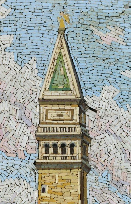 "Framed Italian micro-mosaic of Venice, 18""h - 3"