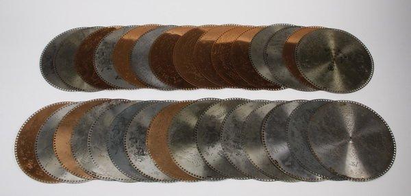 """(30) Assorted 15.5"""" music discs"""