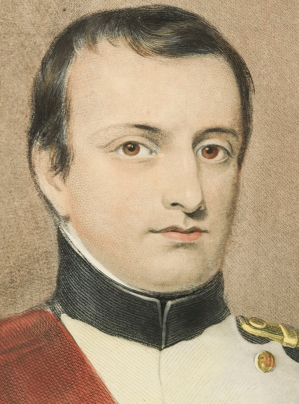 Late 19th c. hand colored engraving of Napoelon - 2