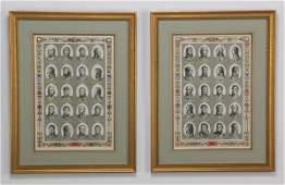 5 19th c engravings Napoleons generals 22h