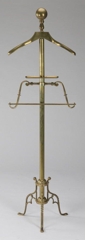 """Brass gentleman's valet stand, 56""""h"""