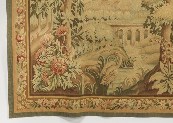 """French style wool tapestry, 79""""h - 3"""