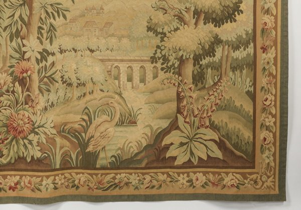 "French style wool tapestry, 79""h - 6"