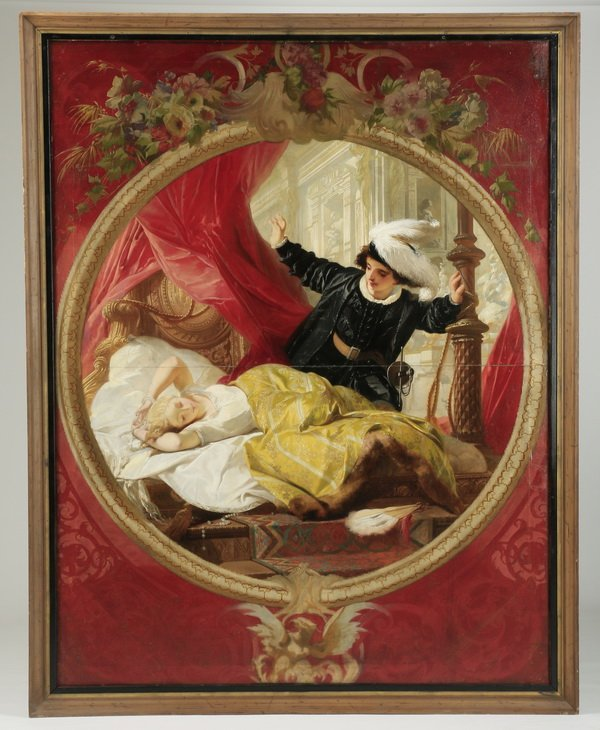"19th c. Continental O/b of Sleeping Beauty, 106""h - 2"