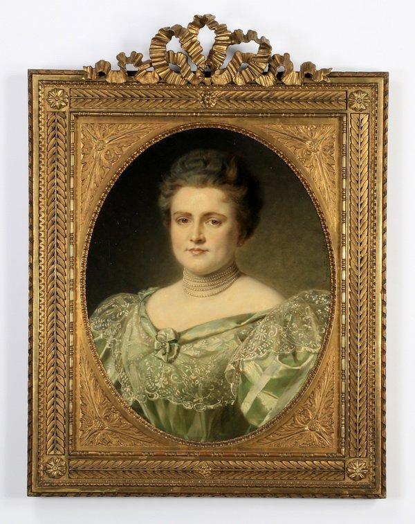 "19th c. Continental O/c portrait, 37""h"